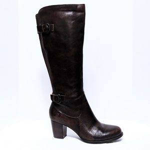 Born Vita Cognac Burnished Leather Knee Boots 9